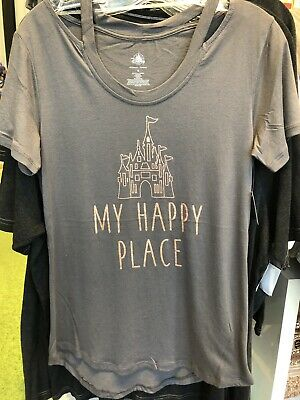 86269cfe Walt Disney World Castle My Happy Place Briar Rose Gold T-Shirt Top Tee M