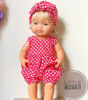 Miniland Doll Clothes Romper & Headband ~New Design~