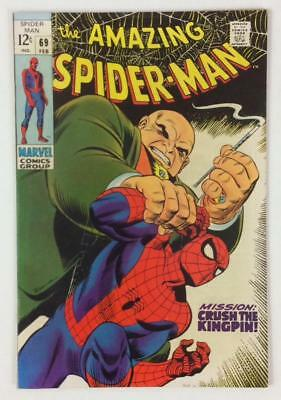 Amazing Spider-Man #69 (Marvel 1969) Silver age classic. VF+ condition.