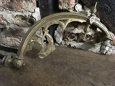 Fantastic French Wall Light Old Vintage Brass Collectors Item Wow Wow