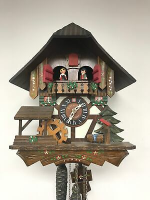 Swiss Made Lotscher Musical Cuckoo Clock With 3 Weights Working Order #469
