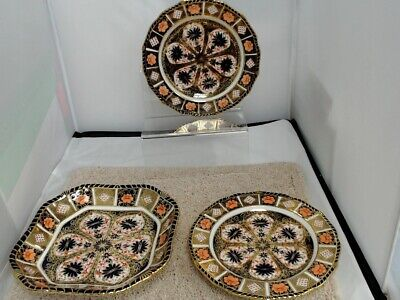 Royal Crown Derby Dinner Plates And 1 Bowl #450
