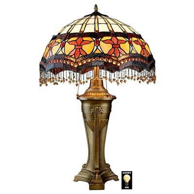Design Toscano Victorian Parlor Tiffany-Style Stained Glass Table Lamp