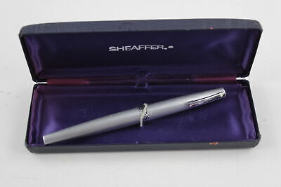 Vintage 1970's SHEAFFER 'Lady Sheaffer' Silver Tone FOUNTAIN PEN Boxed WRITING