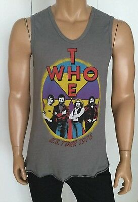 Junk Food The Who U.S. Tour 1976 Tank Top Size  M