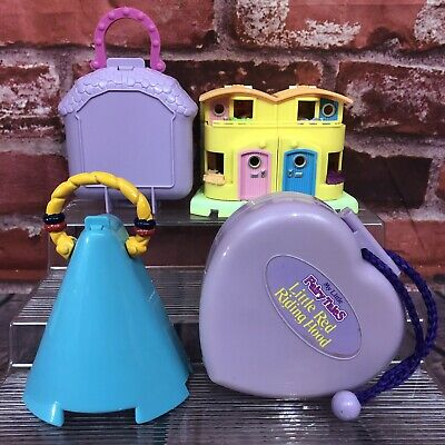 4 Vintage Polly Pocket & Clone Sets Happy Trails Pony Club My Little Fairy Tales