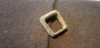 Bronze buckle Medieval 12/13 hundreds found in Britain 1970s L7k