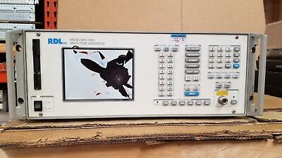 RDL MTG2000C Multi-Tone Generator Option 02 Cracked Display
