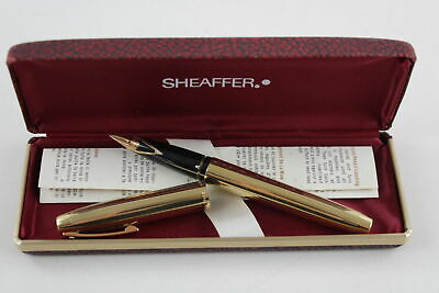 Vintage SHEAFFER Imperial Sovereign 12ct Gold Filled FOUNTAIN PEN 14ct Nib (21g)