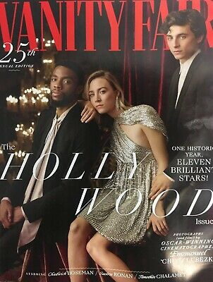 VANITY FAIR MAGAZINE 25th Edition The Hollywood Issue Boseman, Chalamet, Ronan..