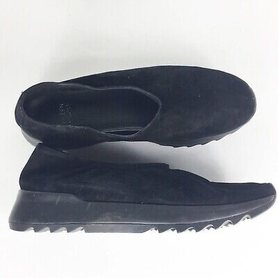 748b4a2e39f Eileen Fisher Womens Black Suede Mellow Comfort Slip On Loafer Shoes Size 9M