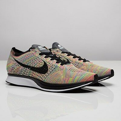 8ae7723bd26f Nike Flyknit Racer 3.0 MultiColor Rainbow 526628-004 men size US 9.5 new  Limited