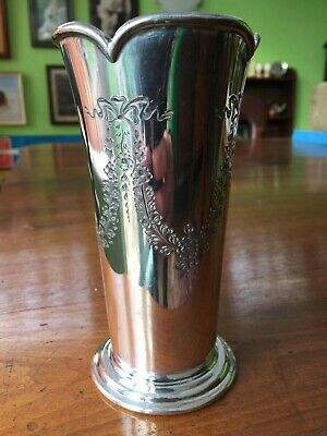 Antique Victorian Fluted Vase By Albert Beardshaw And Co Hallmarked 1879