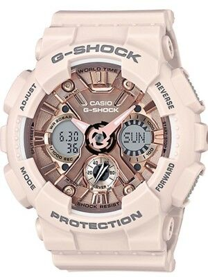Brand New Casio G-Shock Gmas120Mf-4A S-Series Peach/rose Gold Resin Watch Nwt!!!