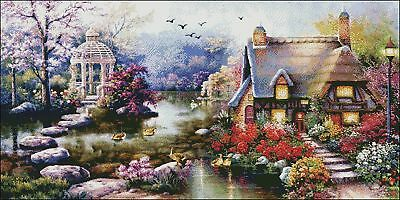 Needlework Embroidery DIY Counted Cross Stitch Kits 14 ct - Stone Path Lodge