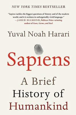 Sapiens A Brief History of Humankind Hardcover Book by Yuval Noah Harari NEW!!