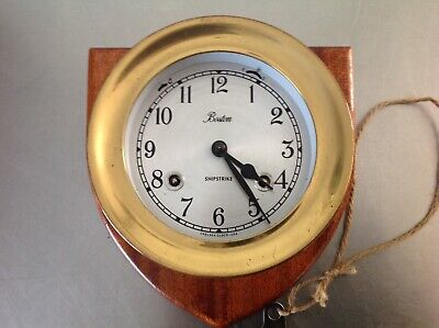 Chelsea Clock Co. Maritime Ships Bell Clock Boston Shipstrike & Stand Working