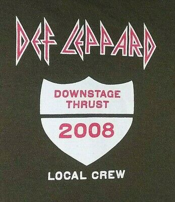 DEF LEPPARD 2019 Rock & Roll Hall of Fame inductee Local Crew Shirt XL (2008)