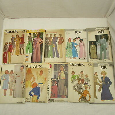Vintage Lot of 10 Sewing Patterns Woman Size 10 Simplicity Butterick  70's 5