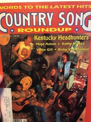 Country Song Roundup Magazine April 1991 Kentucky Headhunters Vince Gill