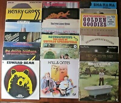 Lot of 23 Classic Rock & More! LP Records ALL LISTED & GRADED