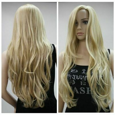 Fashion Womens  Wig Blonde Brown Long Wavy Full Wigs Party Hair Wigs US Shipping