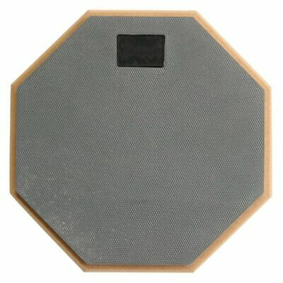 8 inch Soft Gray Dumb Drum Pad Exercise Mat Blow Plate Drummer Wood+rubber C7Y2