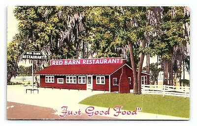 LAKE CITY FLORIDA Red Barn Restaurant Street View Vintage