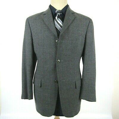 Andrew Fezza Men's size 40S Classic Fit Gray Cashmere Blazer Sport Coat Jacket