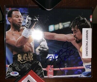e6656a7f622a2 FRAMED AUTOGRAPHED/SIGNED MANNY PAC-MAN PACQUIAO 8x10 Photo Beckett ...