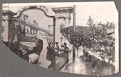 Vintage 1911 Mexico City Bosque De Chapultepec Huge City Park Hat Fashion Photo