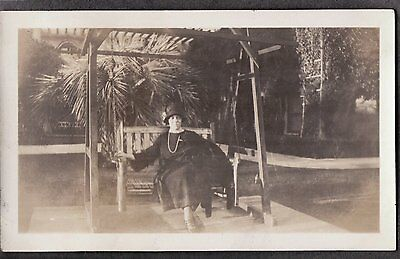 Vintage 1924 Virginia Hotel Long Beach California Flapper Girl Fashion Old Photo