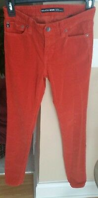 d4c7b1dd23a BIG STAR 26 Alex Mid-rise Skinny Orange Corduroy Pants Jean Stretch 30.5