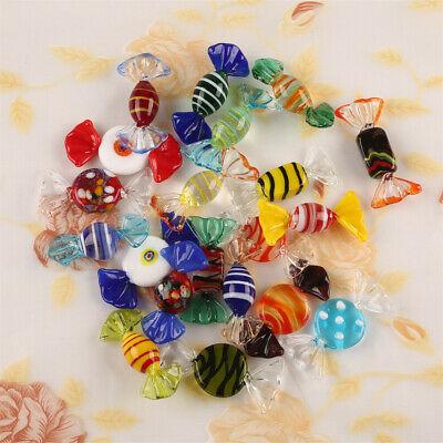 10/20 pcs  Murano Glass Sweets Vintage Xmas Party Wedding Candy Decor Gift New
