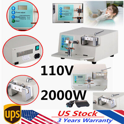 Dental Spot Welder Welding Teeth Orthodontic HL-WDII  Heat Treatment Lab Equipt
