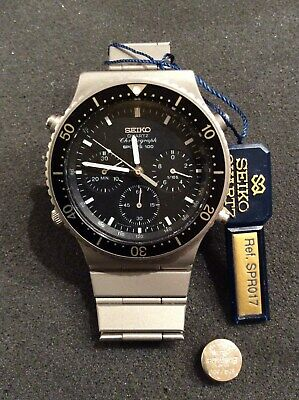 a06b1686a VINTAGE SEIKO SPR017 SPORTS 100 CHRONOGRAPH 7A28-7049 ,Brand New FROM THE  1980s