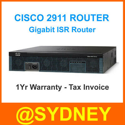 CISCO 2911 Integrated Services Router - One Year Warranty + GST Tax Invoice
