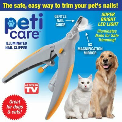 PetiCare Illuminated Pet Nail Clipper Great for Cats & Dogs Features AZ