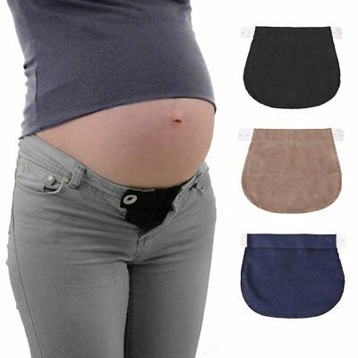 Pregnancy Waistband Belt Adjustable Elastic Waist Extender Pants For Pregnant S6