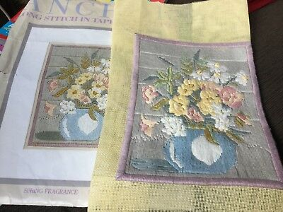 Choice of 5 Finished unframed LONGSTITCH embroidery: 22x17cm or 28.5cm diameter