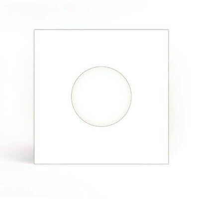 "12 SHEETS - WHITE PAPER RECORD SLEEVES w/hls FOR 7"" VINYL RECORDS (45's)"
