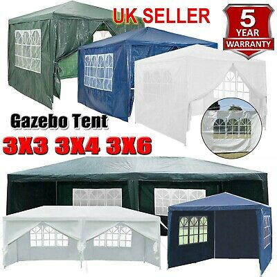 Waterproof 3x3/4m Gazebo Outdoor Patio Garden Marquee Canopy Party Tent W/ Sides