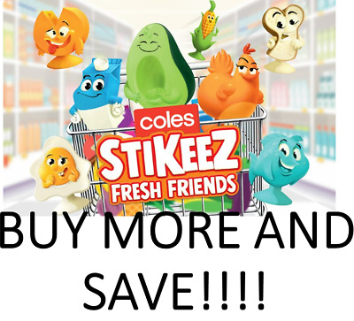 Coles Fresh Stikeez, Buy one, or get full set, including rare! Free Post.