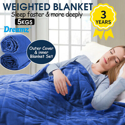 Dreamz Weighted Blanket Deep Relax Sleeping Gravity for Adults Women Men 5KG New