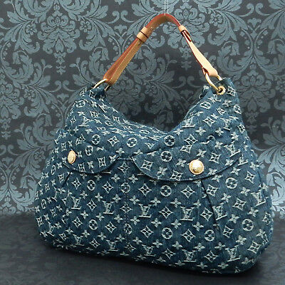 Rise-on  LOUIS VUITTON MONOGRAM Denim Daily GM Blue Shoulder bag Handbag #6