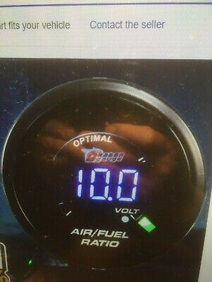 "HOTSYSTEM Car 2"" 52mm 20LED Digital Black Analog LED Air Fuel Ratio Gauge"