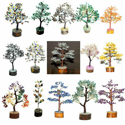 Natural Gemstone Feng Shui Bonsai Money Tree For Chakra Crystal Size 10-12 Inch