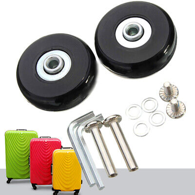 2 Set Luggage Suitcase Parts Replacement Wheel OD 50mm Bearing Wrench Repair Kit