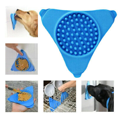 1PCS Pet Puppy Dog Silicone Lick Pad Slow Feeder Bowl Portable Toys Feed Dish
