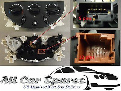 Citroen C5 Heater Controls with Air Conditioning Mk1